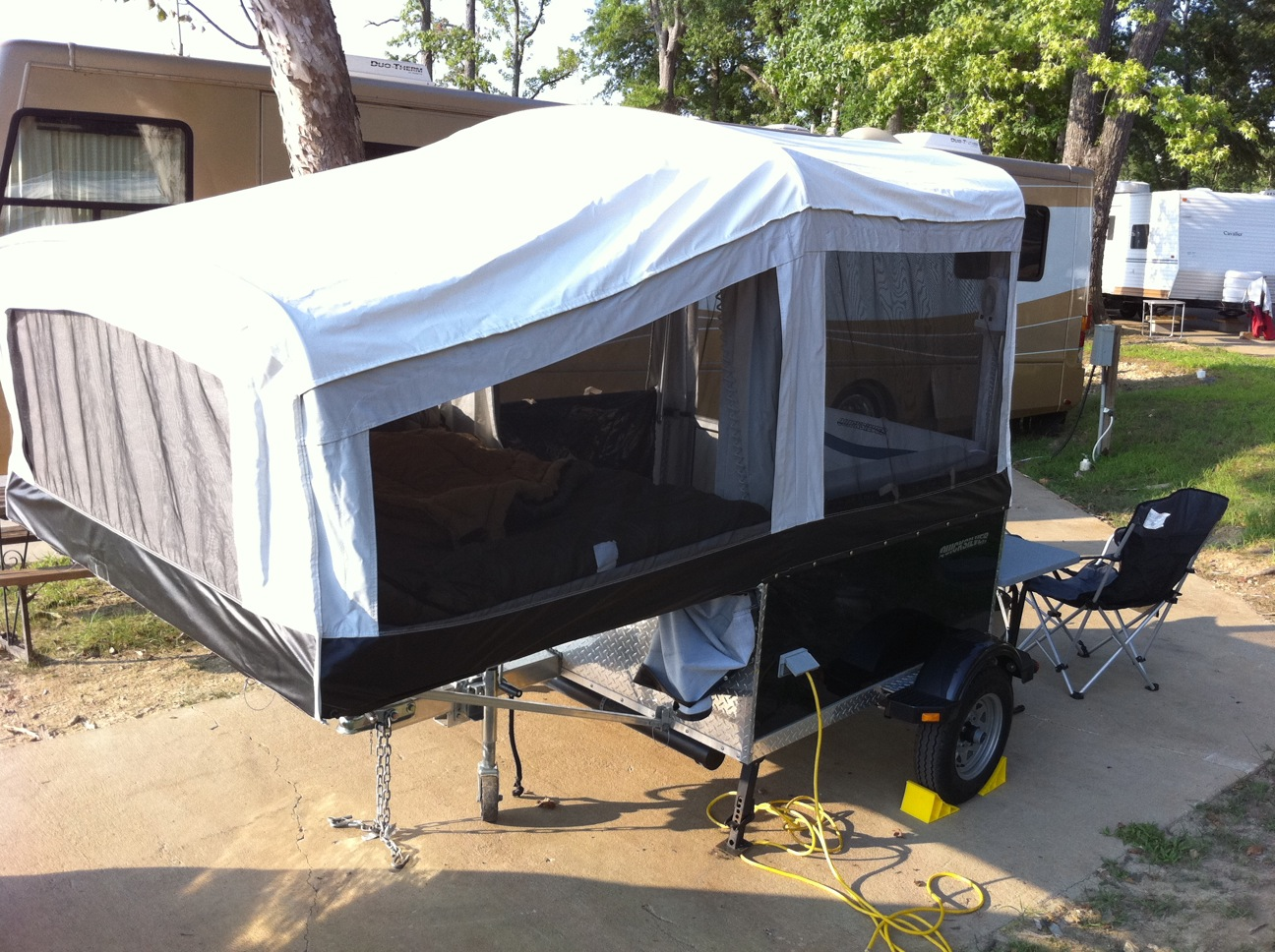 Livin'Lite 5 0 with custom sewn awning and vestibule